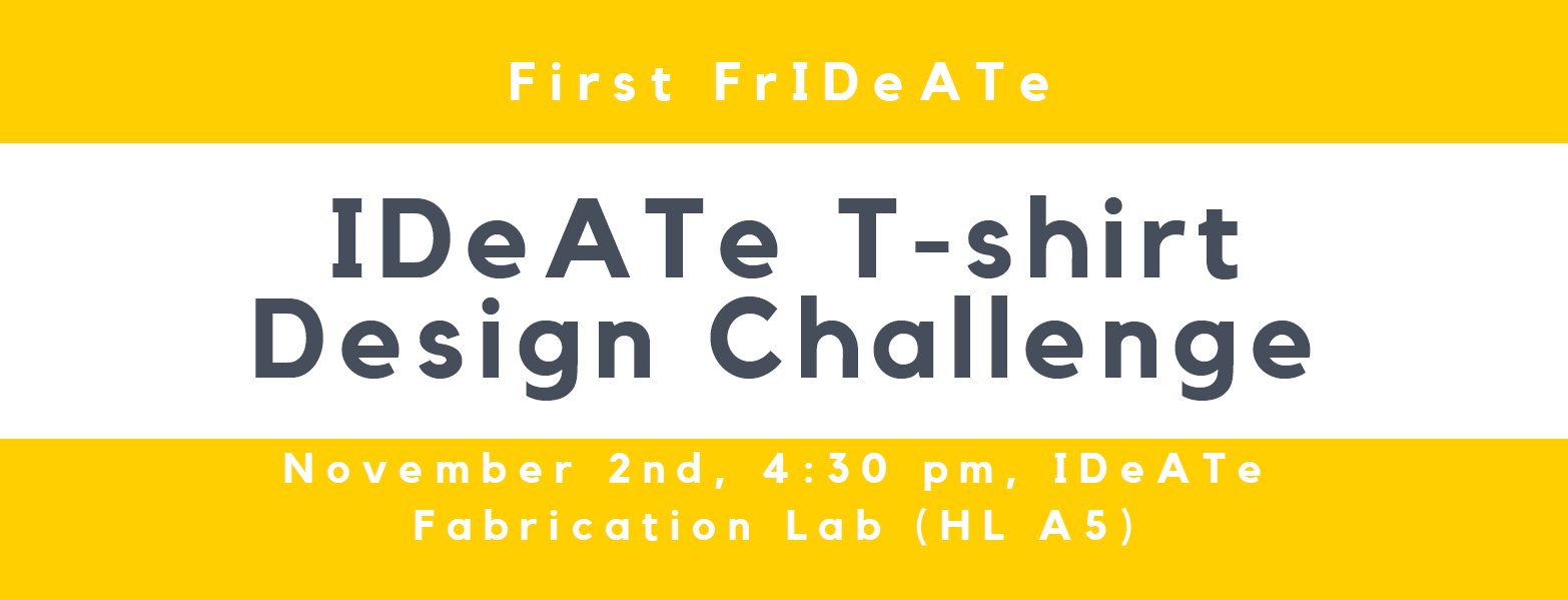 IDeATe T-Shirt Design Challenge